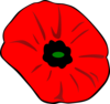 Remembrance Day Poppy With Green For Hope Clip Art