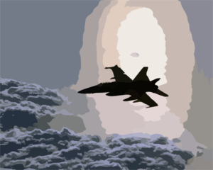 An F/a-18 Hornet From Strike Fighter Squadron One Five (vfa-15) Patrol The Skies Over The Eastern Mediterranean Clip Art