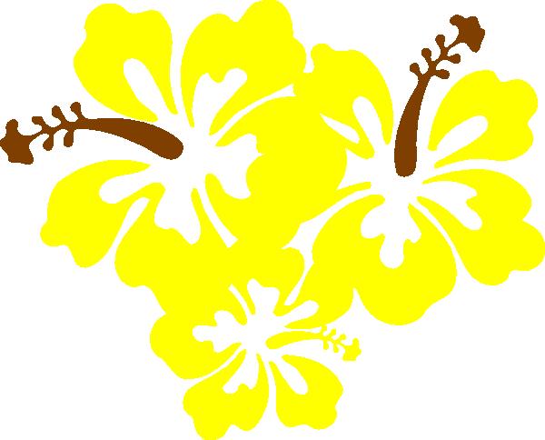 Hibiscus Yellow Flower Clip Art at Clker.com - vector clip ...