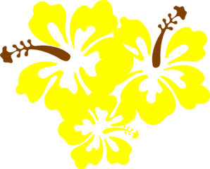 Hibiscus Yellow Flower Clip Art At Clker Vector Clip Art
