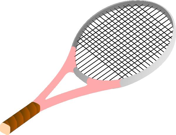 Tennis Racket Pink Clip Art At Clker Com Vector Clip Art