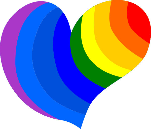 Hearts rainbow. Heart clip art at