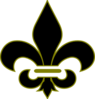 Black And Gold Fleur De Lis Clip Art