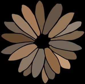 gray brown daisy clip art at clker com vector clip art online