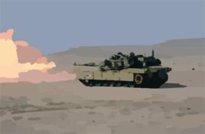 Marines From The 13th Marine Expeditionary Unit (13th Meu) Tank Platoon Blt 1/1 Stationed At Twentynine Palms, Calif., Fire The M-a1 Abrams Tank During A Live Fire Training Exercise. Clip Art