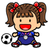 Girl Soccer Player Clip Art