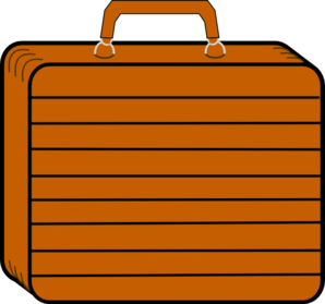 Light Tan Suitcase Clip Art