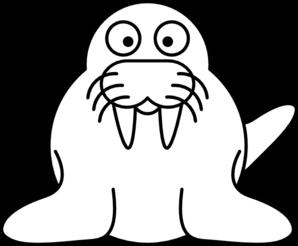 walrus white clip art at clker com vector clip art online royalty rh clker com walrus clipart black and white walrus clipart images