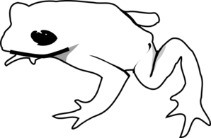 Frog Outline Animal Clip Art