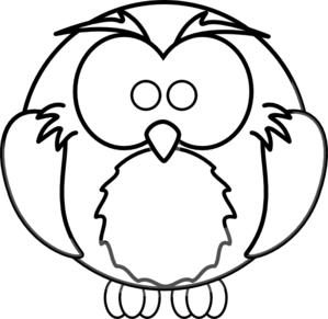 cartoon owl outline clip art - Cartoon Outline Drawings