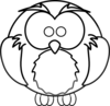 Cartoon Owl Outline Clip Art