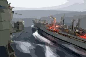 Usns Rappahannock Conducts Ras With Uss Kitty Hawk Clip Art