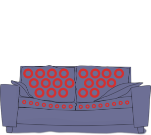 Phish Couch Tour Blue Couch Clip Art