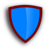 Blue-red  Security Shield Clip Art