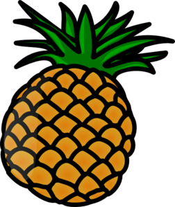 pineapple clip art at clker com vector clip art online royalty rh clker com pineapple clipart images pineapple clipart cricut