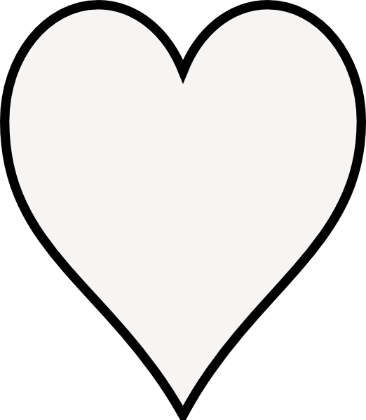 Line Art Heart Outline : Heart outline clip art at clker vector