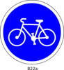 French Bicycle Sign Clip Art