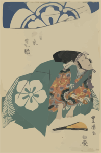 The Actor Bandō Minosuke In The Role Of Mitsuhide. Clip Art