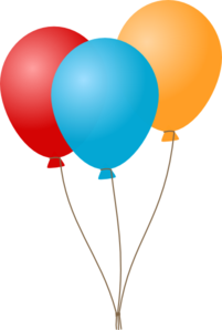 Birthday Ballons Clip Art