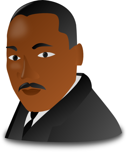 martin luther king jr day icon clip art at clker com vector clip rh clker com Martin Luther King Jr Clip Art Silhouette Martin Luther King Holiday Clip Art