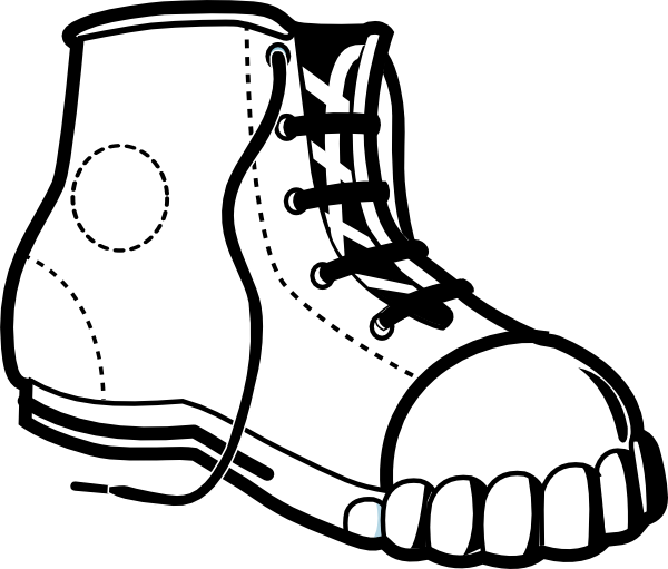 sneaker bw clip art at clker com