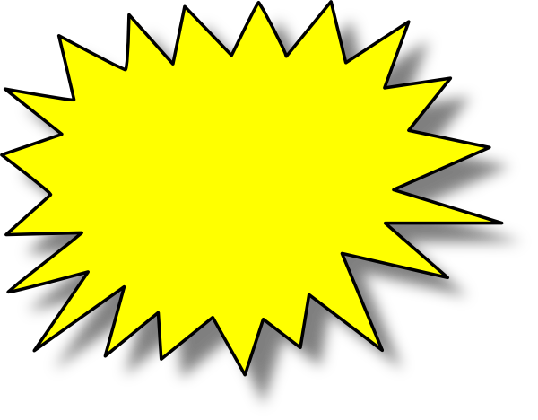yellow starburst clipart - photo #7