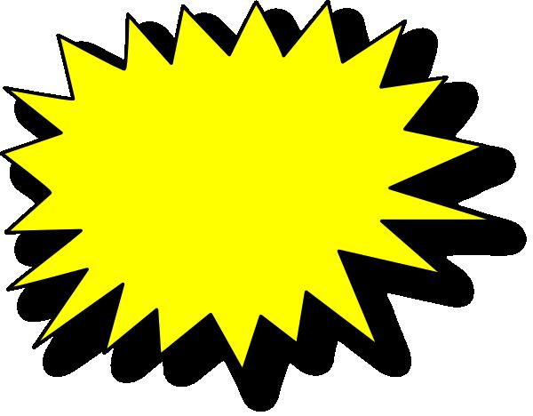 yellow starburst clipart - photo #7