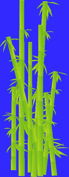 Bamboo sticks clip art at clker vector