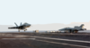 An F/a-18f  Super Hornet  Lands On Deck. Clip Art