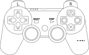 Game Console Controller Outline Clip Art
