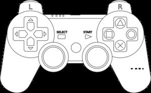 game console controller outline clip art at clker com vector clip