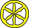 Yellow Wheel Clip Art