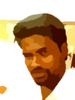 Handsome East Indian Man With Pompadour And Goatee Vector Clip Art