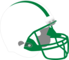 Green And White Helmet Clip Art