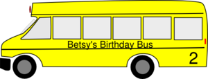 Birthday Bus Clip Art