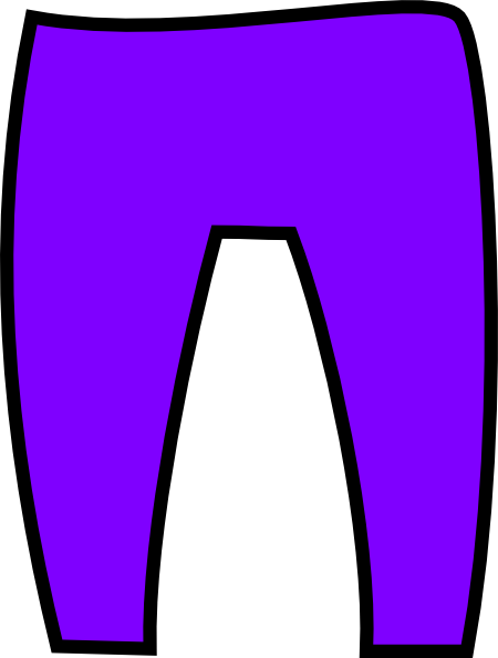 Purple Trousers Clip Art at Clker.com - vector clip art online ...