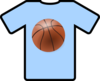 Light Blue Shirt Basketball Clip Art