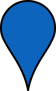 Google Maps Icon Blue Clip Art At Clker Com Vector