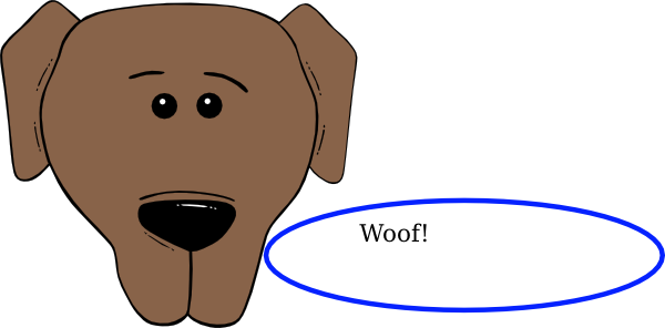 free clipart of dog barking - photo #23