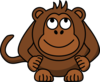 Monkey Looking Up Clip Art