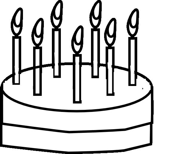 Cake Outline Clip Art at Clkercom vector clip art online royalty