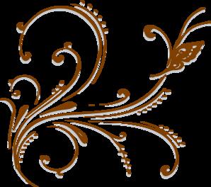 Brown Butterfly Scroll Clip Art At Clkercom Vector