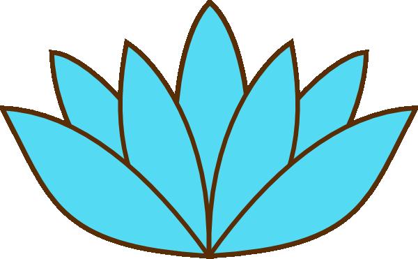 Blue Lotus Flower Clip Art At Clker Com