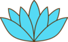 Blue Lotus Flower Clip Art
