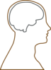 Head And Brain Outline Clip Art