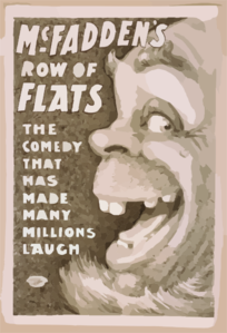 Mcfadden S Row Of Flats The Comedy That Has Made Many Millions Laugh. Clip Art