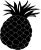 Pineapple Silhouette Clip Art