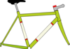 Bike Paint Scheme Green Clip Art