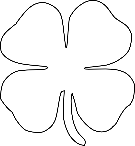 shamrock cut out template - four leaf clover clip art at vector clip art