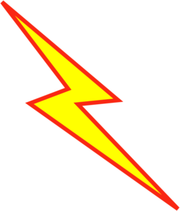 Red And Yellow Lightning Bolt Clip Art